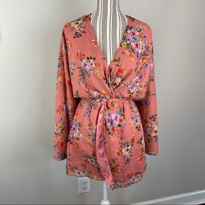 HOUSE OF HARLOW Pink Floral Mini Dress